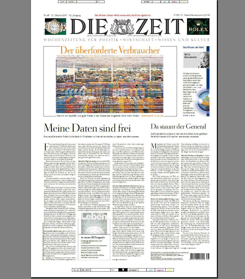 DIE ZEIT 2007-45 vom 31.Oktober 2007