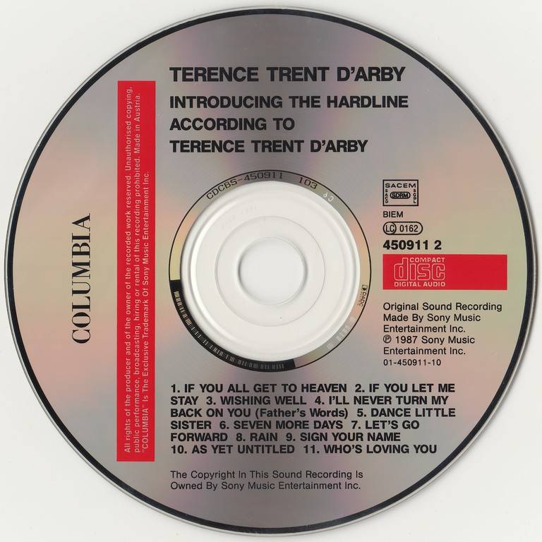 Terence Trent D'Arby - Introducing The Hardline According To Terence Trent D'Arby (1987)