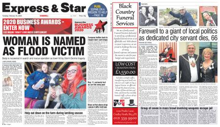 Express and Star Sandwell Edition – February 18, 2020