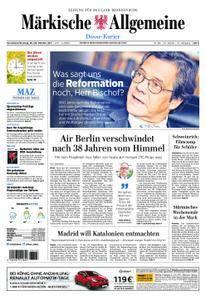 Märkische Allgemeine Dosse Kurier - 28. Oktober 2017