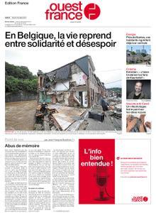 Ouest-France Édition France – 20 juillet 2021