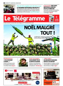 Le Télégramme Brest Abers Iroise – 20 novembre 2020