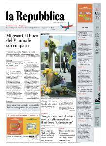 la Repubblica - 13 Agosto 2018
