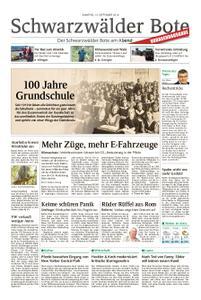 Schwarzwälder Bote St. Georgen, Triberg, Furtwangen - 14. September 2019