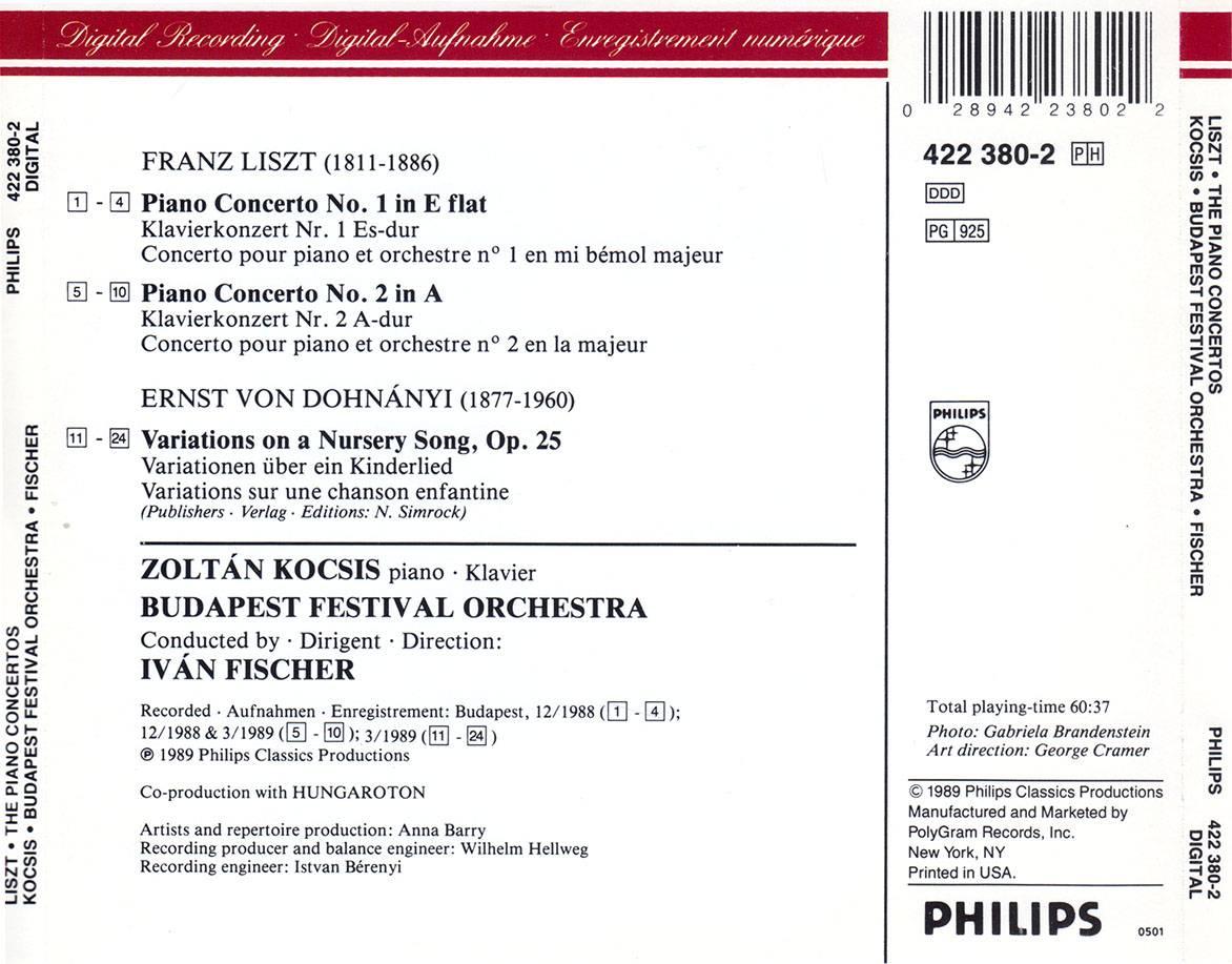 Zoltan Kocsis Budapest Fo Ivan Fischer Franz Liszt