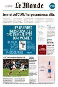 Le Monde du Vendredi 13 Juillet 2018