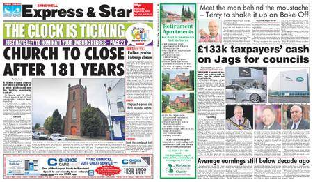 Express and Star Sandwell Edition – August 22, 2018