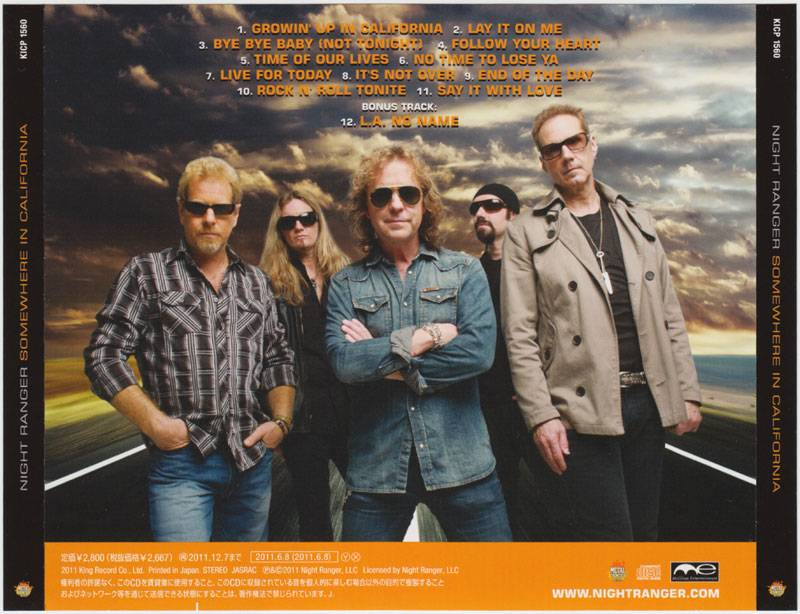 Night Ranger - Somewhere In California (2011)