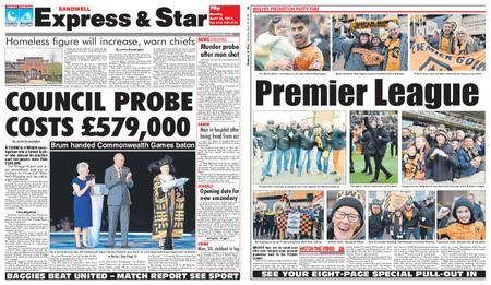 Express and Star Sandwell Edition – April 16, 2018