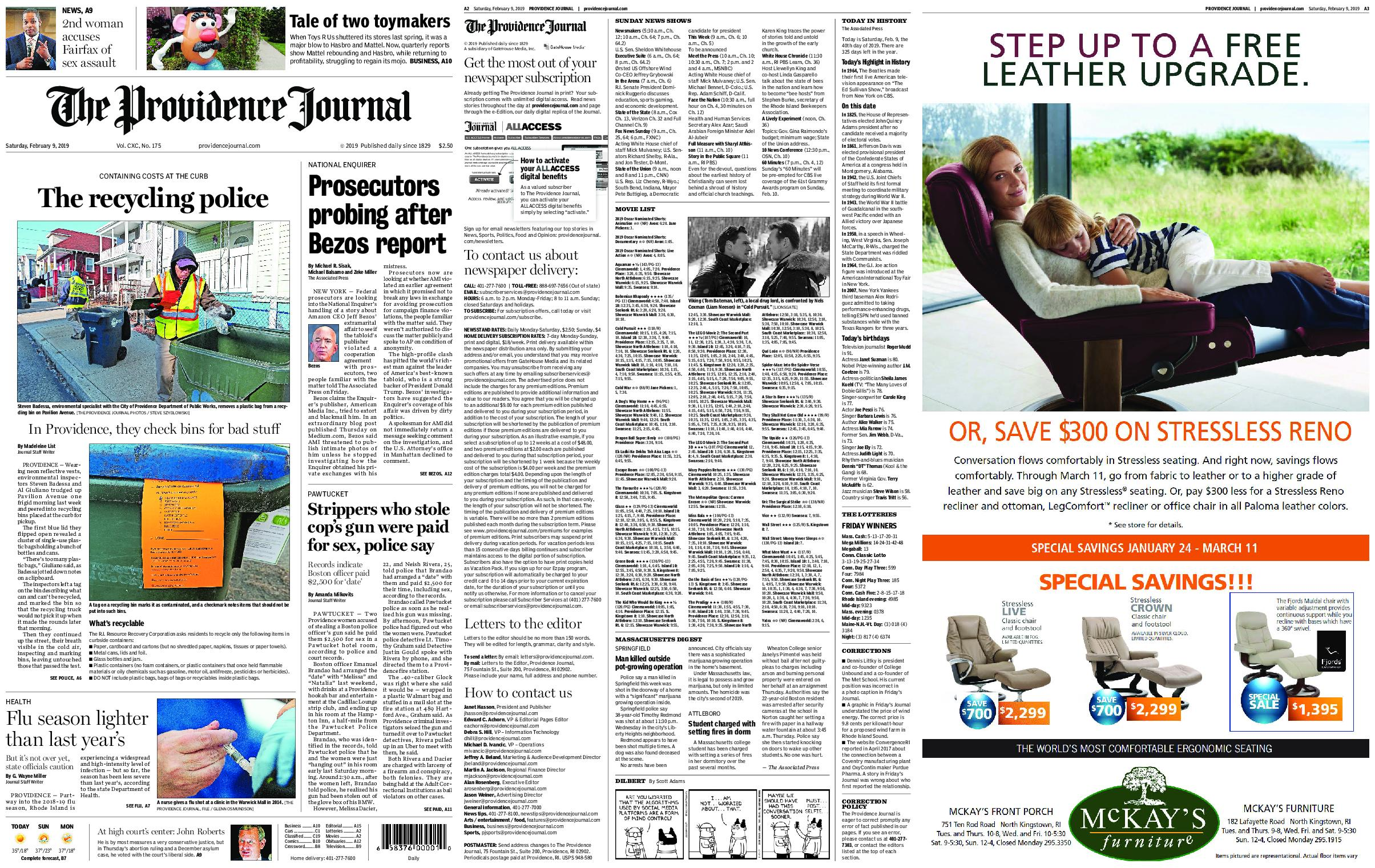 The Providence Journal – February 09, 2019