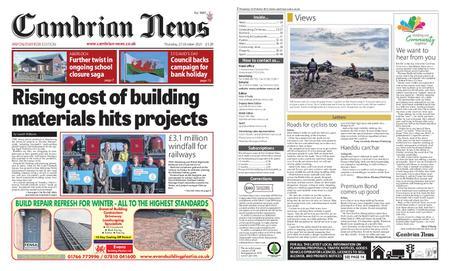 Cambrian News Arfon & Dwyfor – 22 October 2021