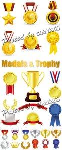 Medals & Trophy Vector