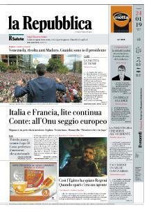 la Repubblica - 24 Gennaio 2019
