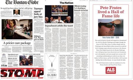 The Boston Globe – December 13, 2019