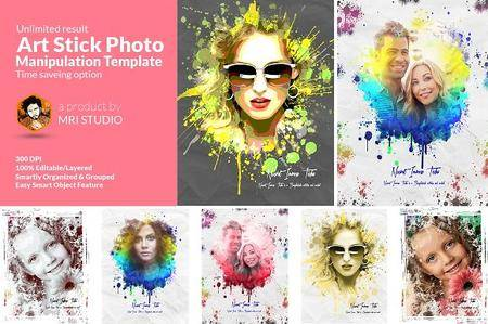 CreativeMarket - Artistic Photo Manipulation Template