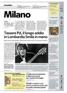 la Repubblica Milano - 10 Gennaio 2019
