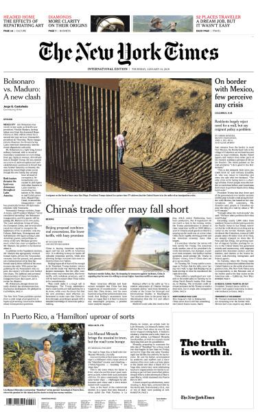 International New York Times - 10 January 2018