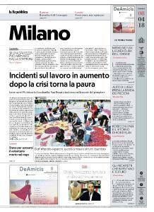 la Repubblica Milano - 8 Aprile 2018