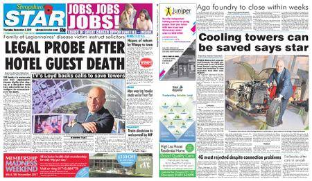 Shropshire Star Shrewsbury Edition – November 02, 2017