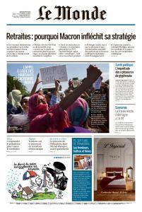 Le Monde du Jeudi 29 Août 2019