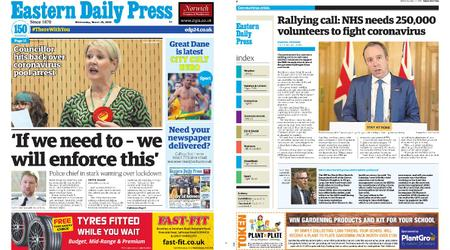 Eastern Daily Press – March 25, 2020