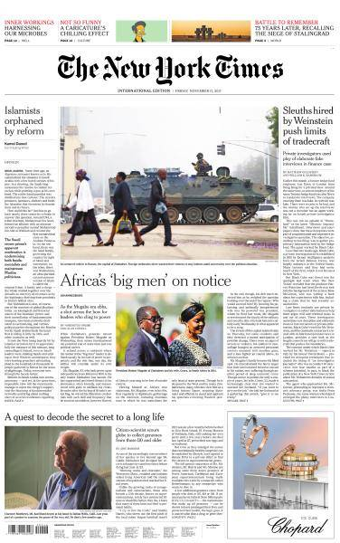 International New York Times - 17 November 2017