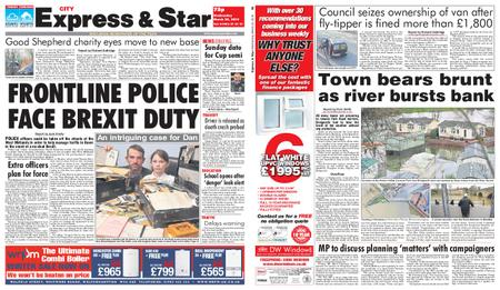 Express and Star City Edition – March 20, 2019