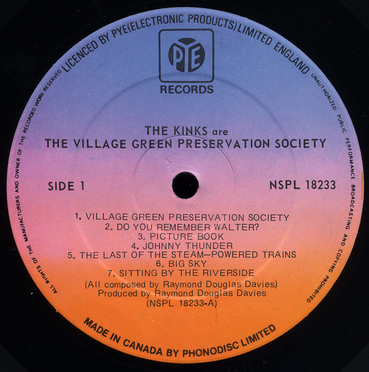 The Kinks Are The Village Green Preservation Society Pye