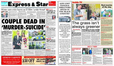 Express and Star Sandwell Edition – September 27, 2017