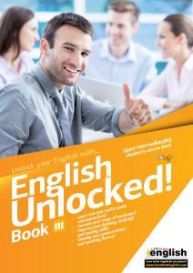 Learn Hot English - English Unlocked! Book III - Upper Intermediate (B2) Student's Course Book