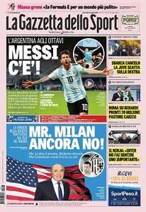 La Gazzetta dello Sport - 27 giugno 2018
