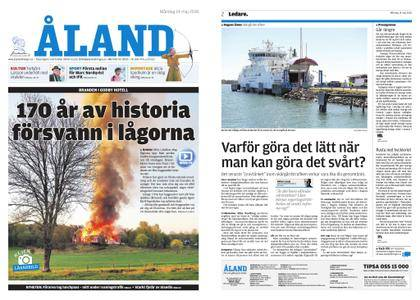 Ålandstidningen – 14 maj 2018