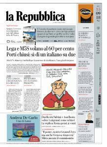 la Repubblica - 15 Settembre 2018