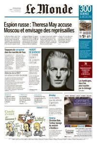 Le Monde du Mercredi 14 Mars 2018