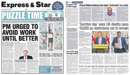 Express and Star City Edition – April 13, 2020