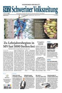 Schweriner Volkszeitung Hagenower Kreisblatt - 01. August 2019