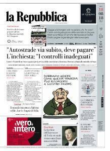 la Repubblica - 18 Agosto 2018