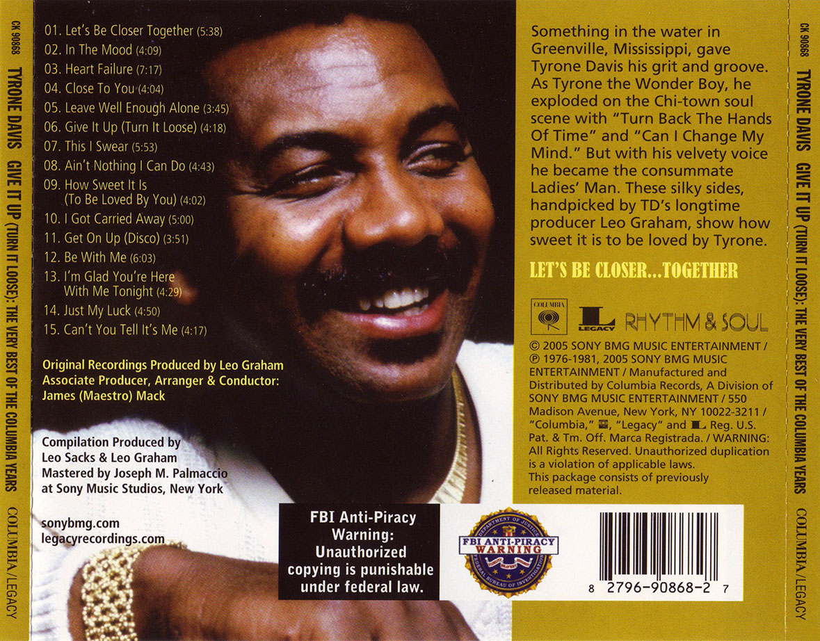 Tyrone Davis - Give It Up (Turn It Loose): The Very Best Of The Columbia Years (2005)