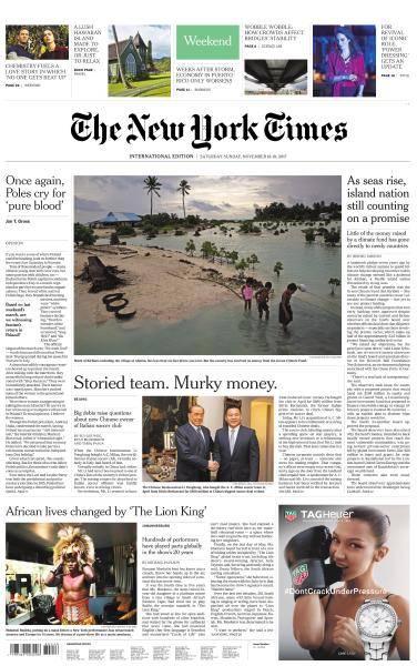 International New York Times - 18-19 November 2017