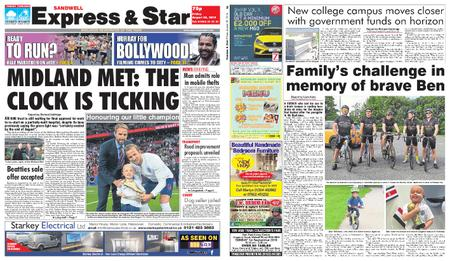 Express and Star Sandwell Edition – August 30, 2019