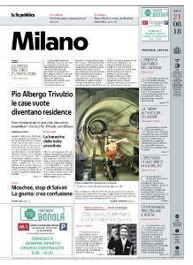 la Repubblica Milano - 21 Agosto 2018