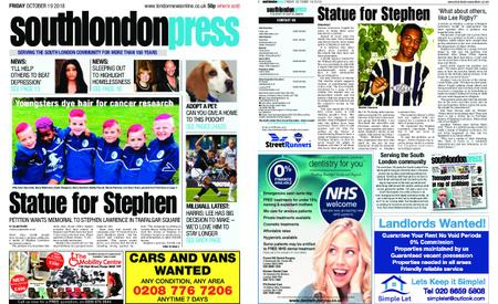 South London Press – October 19, 2018