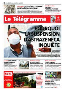 Le Télégramme Ouest Cornouaille – 16 mars 2021