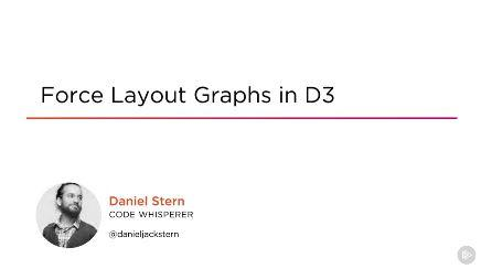 Force Layout Graphs in D3