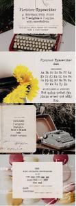Creativemarket - Fletcher Typewriter Font & Extras 3939590