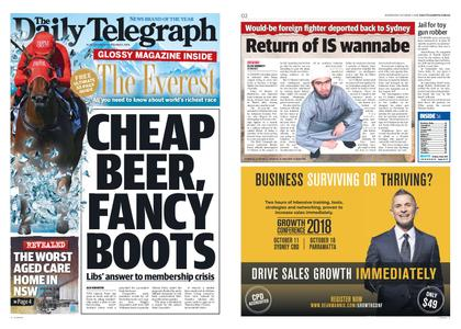 The Daily Telegraph (Sydney) – October 03, 2018