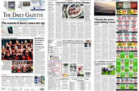 The Daily Gazette – December 18, 2017