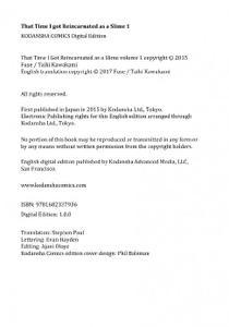 Kodansha-That Time I Got Reincarnated As A Slime 1 2021 Hybrid Comic eBook
