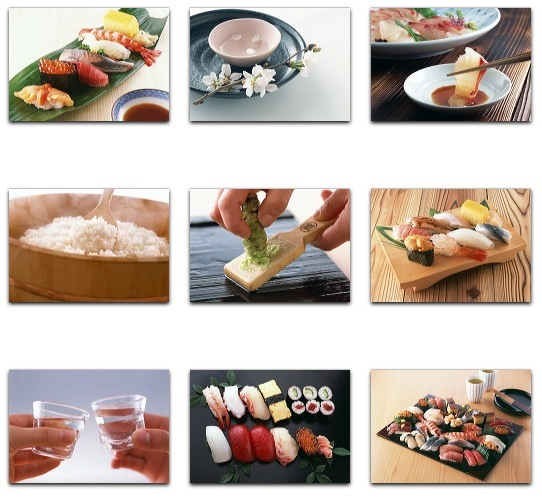 Datacraft Sozaijiten Vol. 144 Sushi & Sashimi - Images of Japanese food