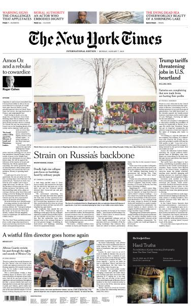 International New York Times - 7 January 2019